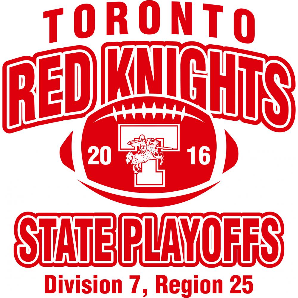 Shirt design toronto - Toronto Red Knights Football Playoff Design 1 T Shirt