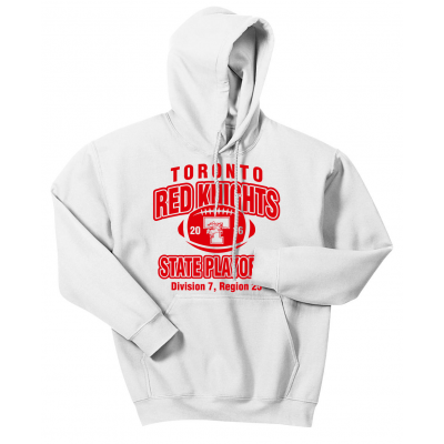Toronto Red Knights Football Playoff Design 1 Hoodie