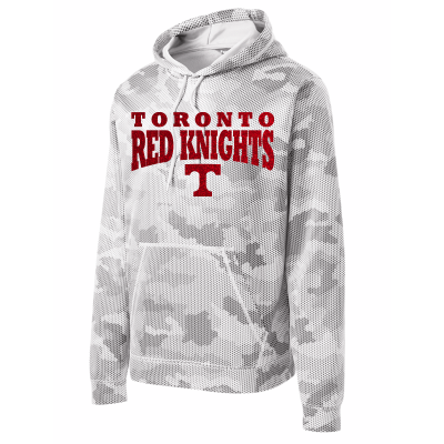 Toronto Red Knights Glitter Design 01 Sport-Wick CamoHex Fleece Hooded Pullover