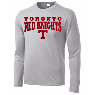 Toronto Red Knights Glitter Design 01 Long Sleeve Competitor Tee