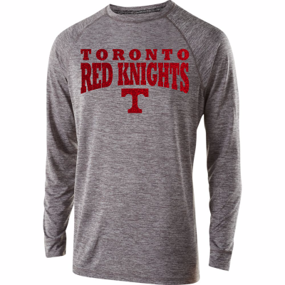 Toronto Red Knights Glitter Design 01 Electrify Long Sleeve Shirt
