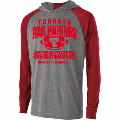 Toronto Red Knights Football Playoff Design 2 Echo Hoodie