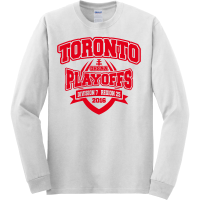 Toronto Red Knights Football Playoff Design 2 Long Sleeve