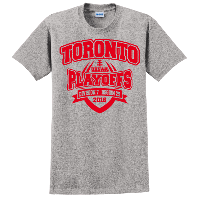 Toronto Red Knights Football Playoff Design 2 T-Shirt