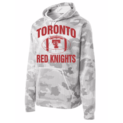 Toronto Red Knights Football Design 01 Sport-Wick CamoHex Fleece Hooded Pullover