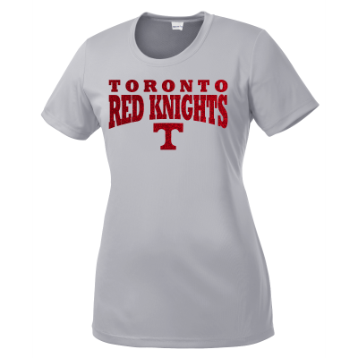 Toronto Red Knights Glitter Design 01 Ladies Competitor Shirt
