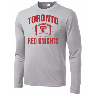 Toronto Red Knights Football Design 01 Long Sleeve Competitor Tee